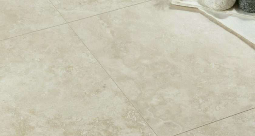 Tila Cream Travertine Tile Effect Laminate Flooring