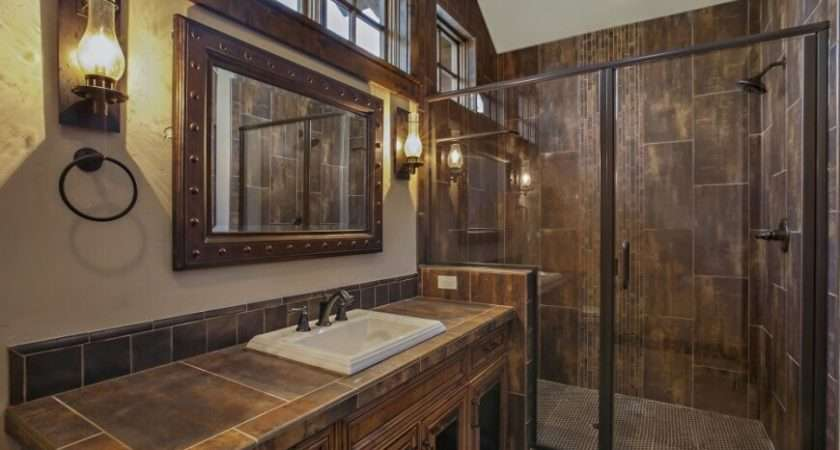 Tile Accents Wall Sconces Made Look Like Old Fashioned