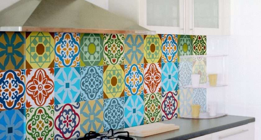 Tile Decals Set Stickers Kitchen Backsplash