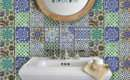 Tile Wall Decal Kitchen Bathroom Moroccan Bleucoin