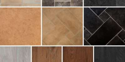 Tile Wood Effect Vinyl Flooring Roll Quality Lino