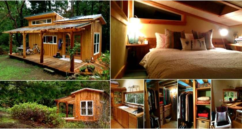 Tiny House Tour Perfectly Rustic Mountain Log Cabin