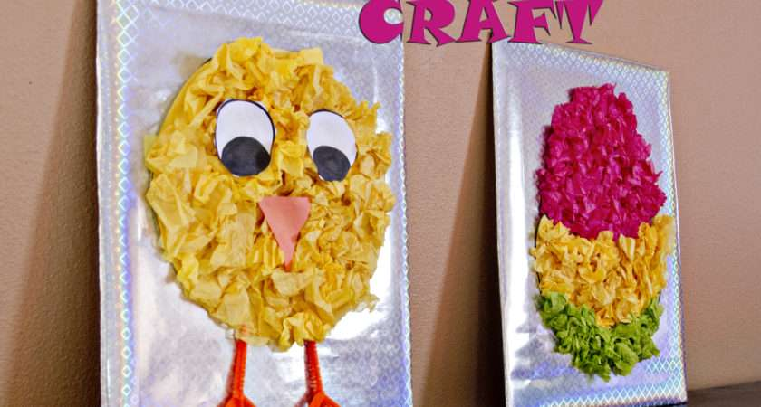 Tissue Paper Easter Craft Kids Crafts