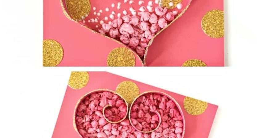 Tissue Paper Heart Craft Cute Valentine Day Art Project
