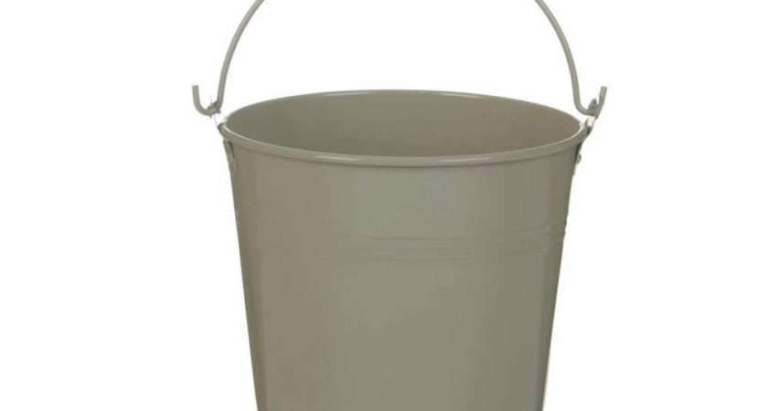 Tobs Buckets Extra Large French Grey Enamel Metal