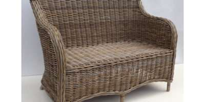 Tobs Furniture Natural Grey Rattan Seater Burmuda Conservatory Sofa