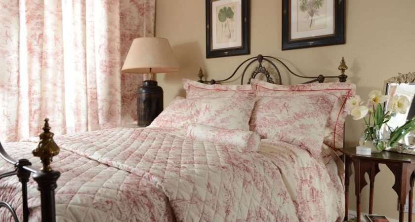 Toile Jouy Antique Pink Bedspreads