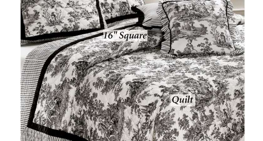 Toile Jouy Cotton Quilt Bedding