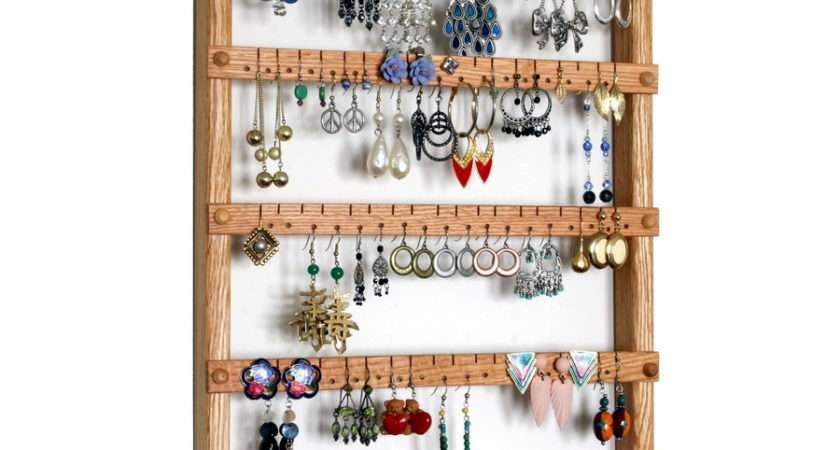 Toms Earring Holder Necklace Bracelet Jewelry Organizer Made