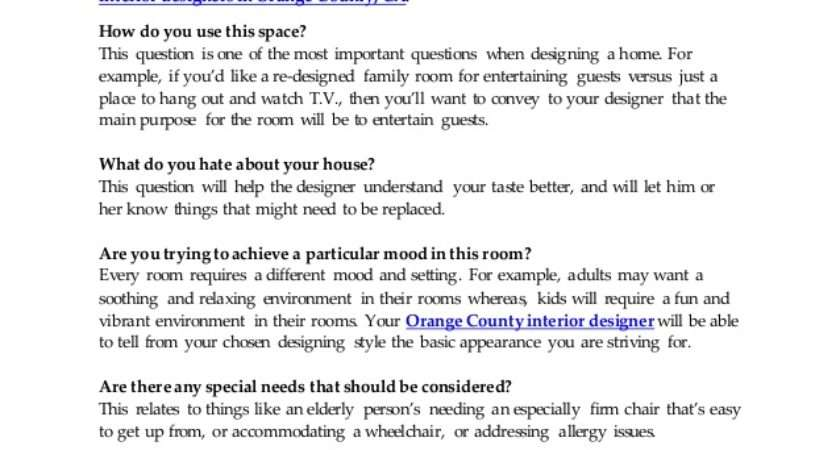 Top Questions Interior Designers Ask While Preparing
