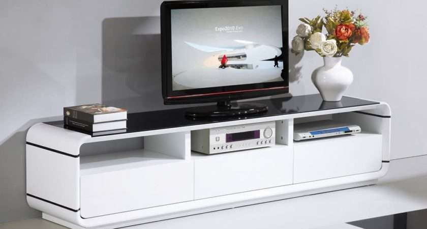Top White High Gloss Stands Unit Cabinet Stand