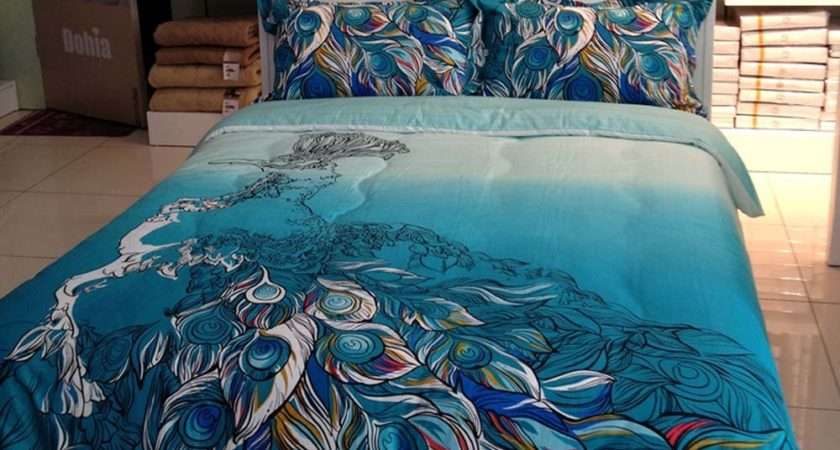Total Fab Peacock Themed Colored Comforter Bedding Sets