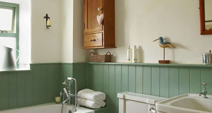 Traditional Bathroom Jade Green Panels