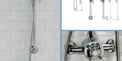 Traditional Bathroom Mixer Shower Exposed Round Chrome
