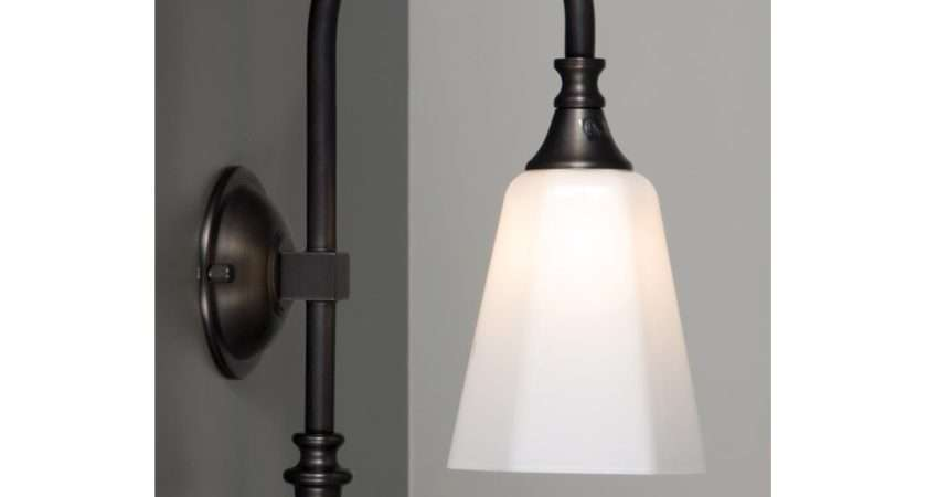 Traditional Bathroom Wall Light Aged Brass Opal White
