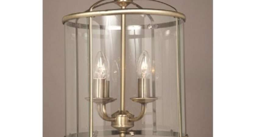 Traditional Entrance Hall Lantern Antique Brass