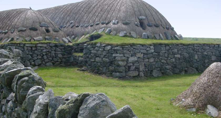 Traditional Scottish Blackhouse
