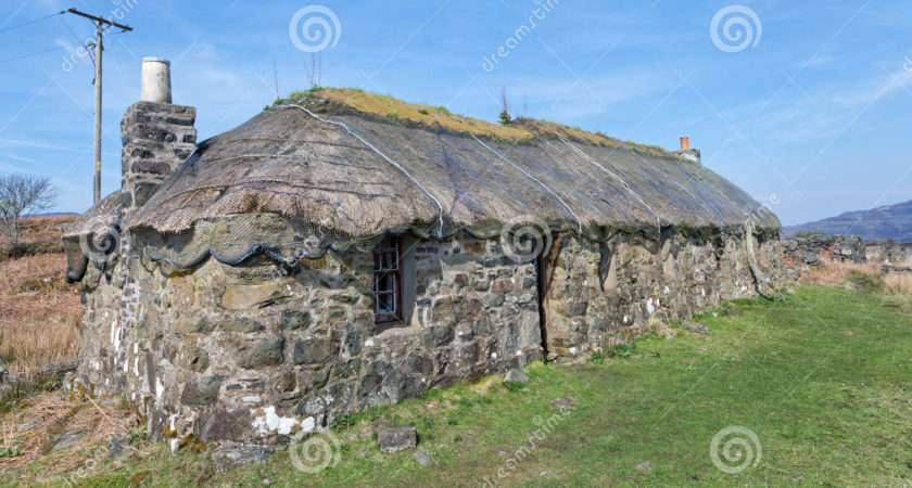 Traditional Scottish Thatched Croft House