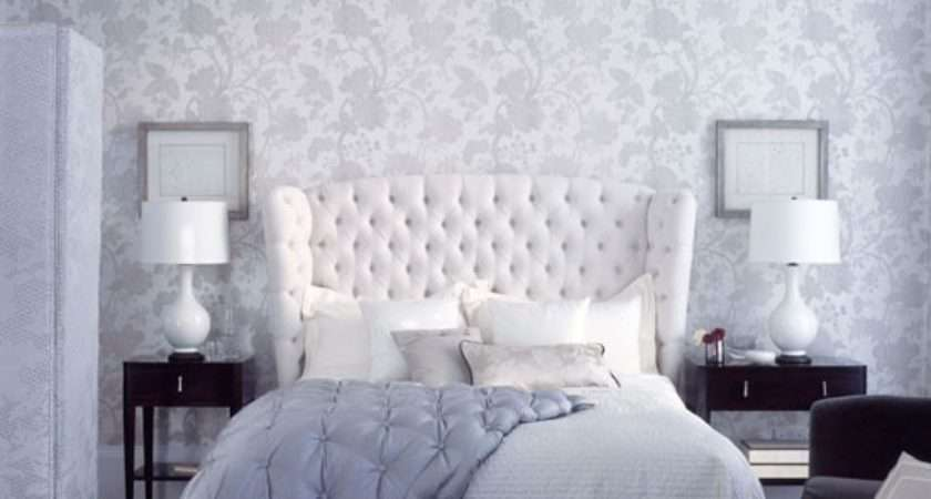 Tranquil Grey White Floral Bedroom Homes Gardens