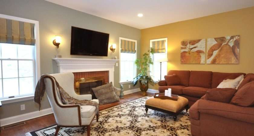 Transitional Living Room Taupe Color Schemes