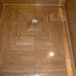 Travertine Tiled Wet Room Refresh Glasgow Tile Doctor