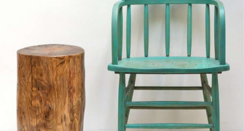 Tree Stump Seating Table Stool Trunk Nest End