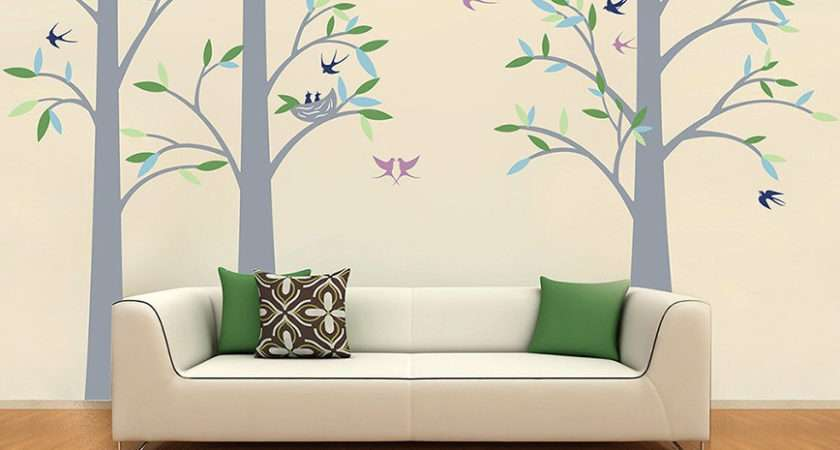 Tree Wall Decals Playroom Vinyl Decors Office Removable