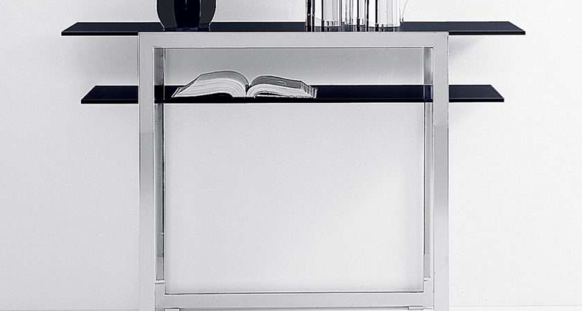 Trix Glass Console Table Contemporary Furniture