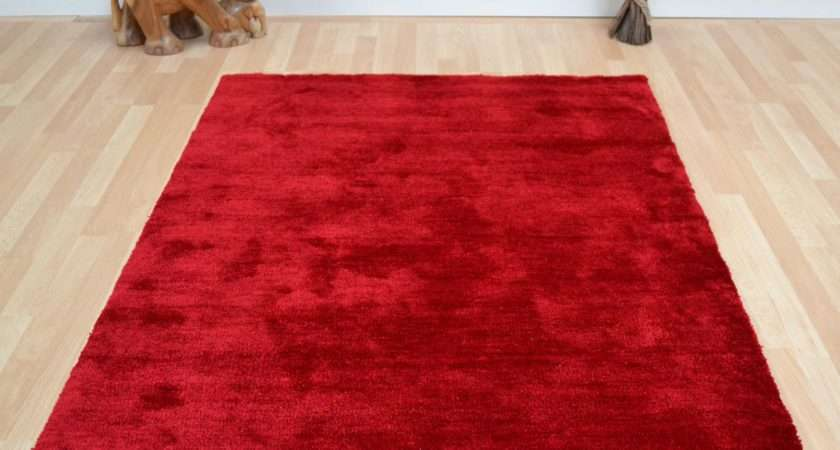Tula Plain Rugs Red Delivery Rug Seller