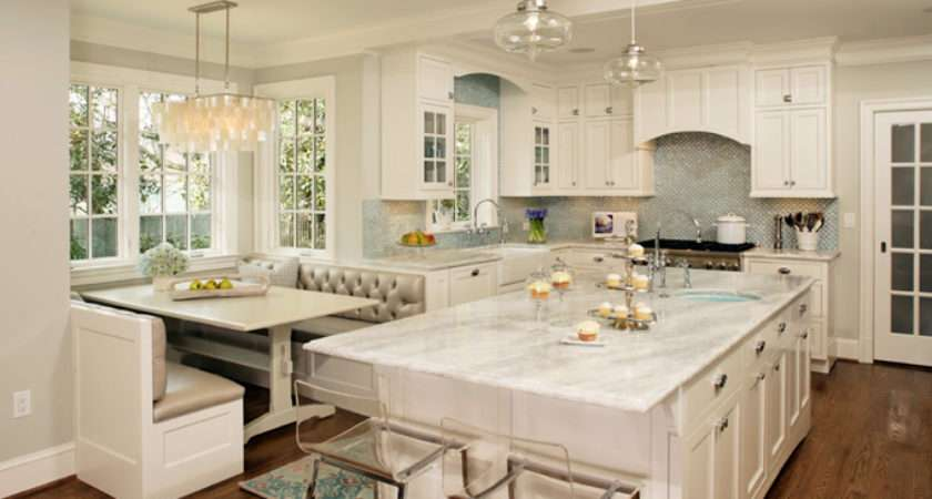 Turquoise Blue White Kitchen Contemporary Harry
