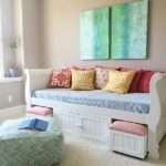 Turquoise Teen Room Organized Desk Craft Table
