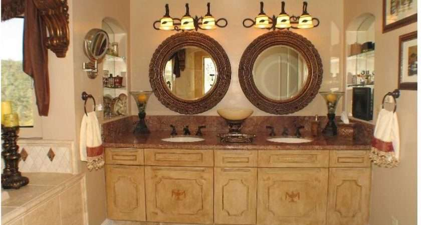 Tuscan Style Bathroom Project Makeover Pinterest