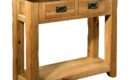 Tuscany Solid Oak Hallway Furniture Small Console Hall