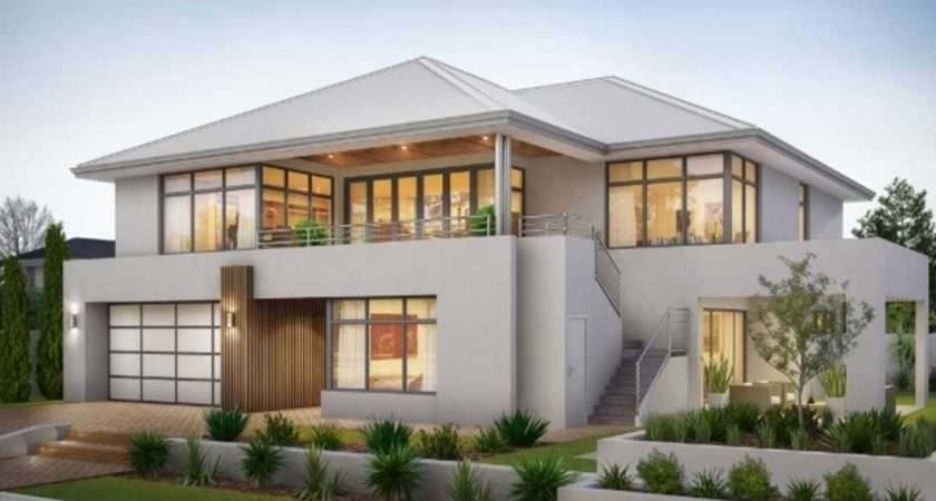 Two Storey House Plans Balcony Stainless Steel