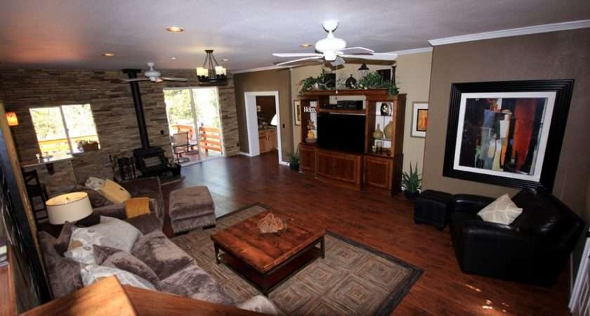 Two Tone Brown Living Room Walls Dining Toned