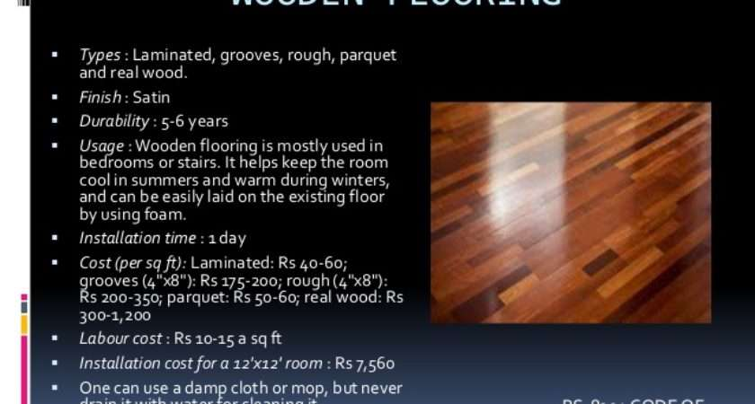Types Floor Finishes