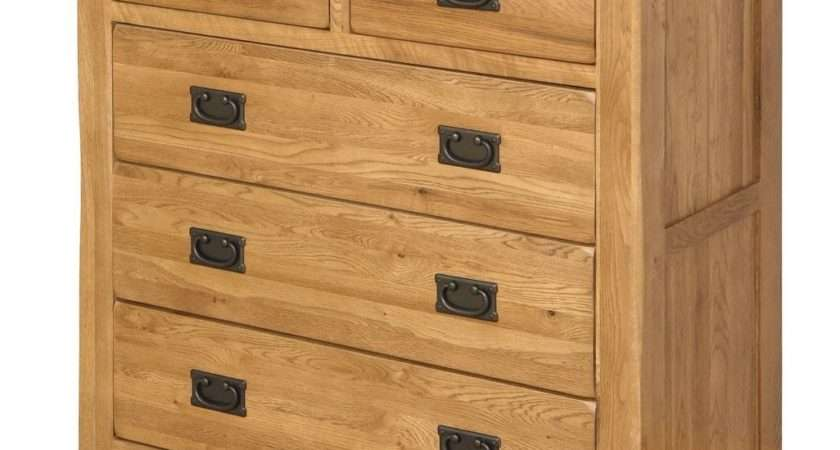 Ukg Rustic Solid Oak Chest Drawers Drawer