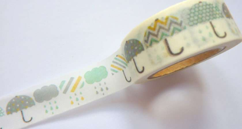 Umbrella Washi Tape Cwlcrafts Etsy