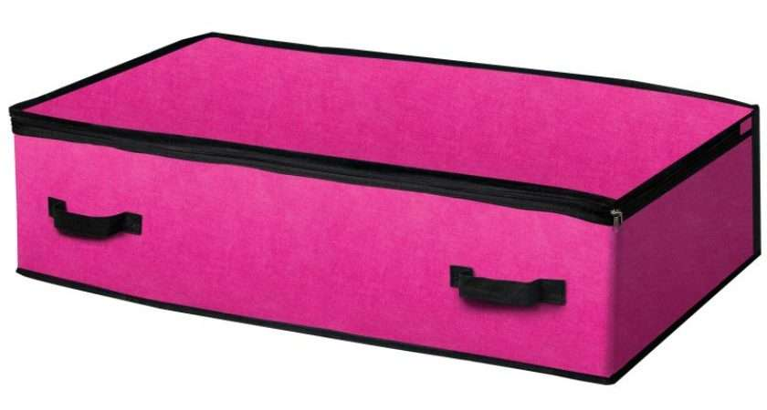 Under Bed Storage Bag Pink Buy Stores