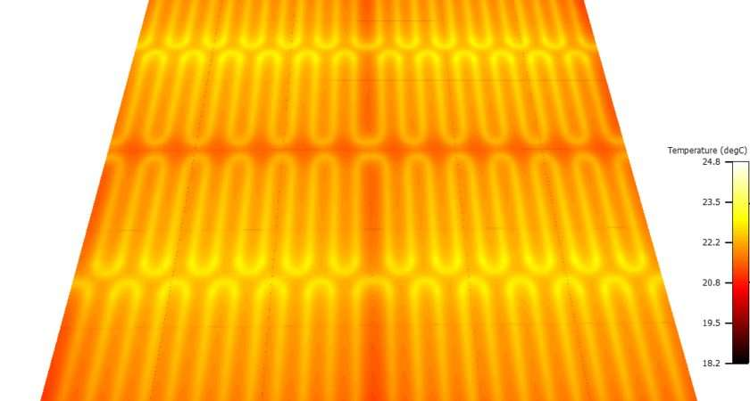 Underfloor Electric Heating Part Infrared Thermography
