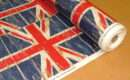 Union Jack Flag Denim Prestigious Retro Designer Curtain Upholstery