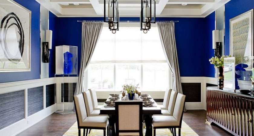 Unique Cheerful Blue Dining Room Photography Rikki Snyder Silvery