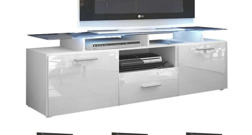 Unit Stand Cabinet Sideboard Almada White High Gloss