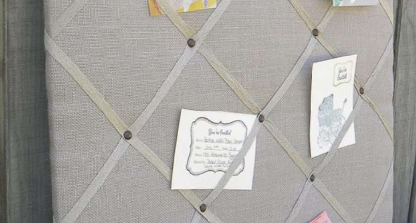Upholstered French Memo Board Linen Pin Decorative