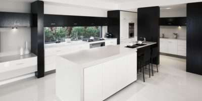 Using High Gloss Tiles Kitchen Good Interior
