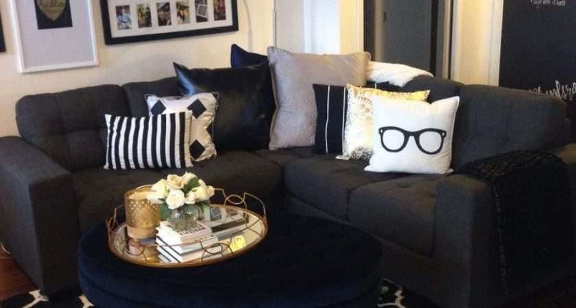 Valuable Ideas Black White Gold Living Room Home