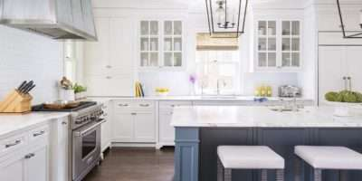 Van Deusen Blue Kitchen Island Design Ideas