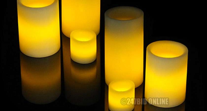Vanilla Scented Led Flameless Wax Mood Candles