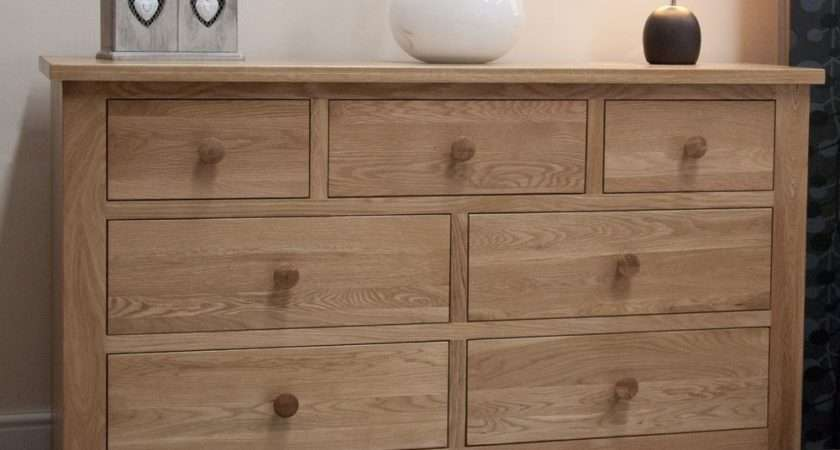 Vermont Solid Oak Bedroom Furniture Large Chest Drawers