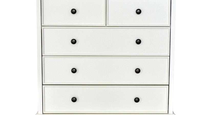 Versailles Drawer Chest White Painted French Shabby Chic